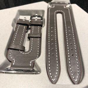 Jewelry - Genuine Leather Double Buckle Apple Watch Cuff